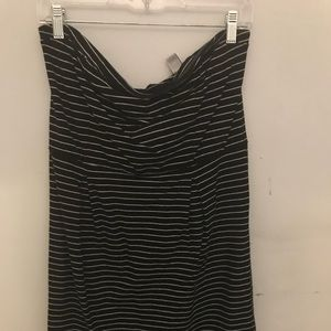Strapless Black and White Stripe Dress 16